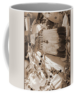 Coffee Mug featuring the photograph Traditional Dancer In Sepia by Heidi Hermes