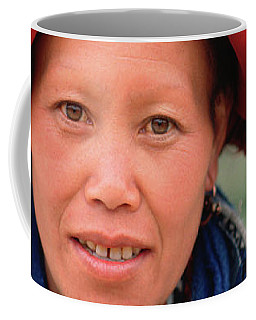 Traditional Fashion Of A Red Dzao Woman Coffee Mug