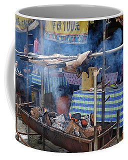 Coffee Mug featuring the photograph Traditional Market In Taiwan Native Village by Yali Shi