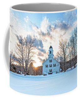 Coffee Mug featuring the photograph Traditional New England White Church Etna New Hampshire by Edward Fielding