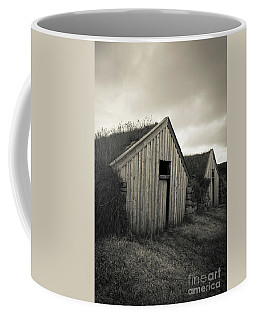 Coffee Mug featuring the photograph Traditional Turf Or Sod Barns Iceland by Edward Fielding