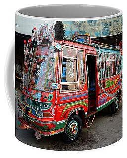 Traditionally Decorated Pakistani Bus Art Karachi Pakistan Coffee Mug