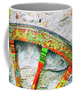 Coffee Mug featuring the photograph Traditional Sicilian Cart Wheel Detail by Silvia Ganora