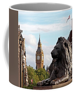 Trafalgar Square Lion With Big Ben Coffee Mug