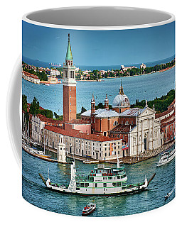 Traffic Around The Venetian Church Coffee Mug