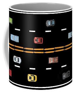 Coffee Mug featuring the photograph Traffic - Panorama by Nikolyn McDonald