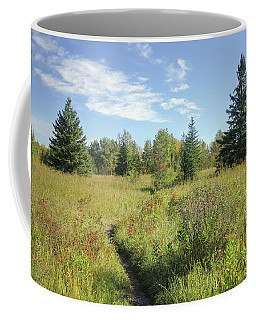 Trail In September Meadow Coffee Mug