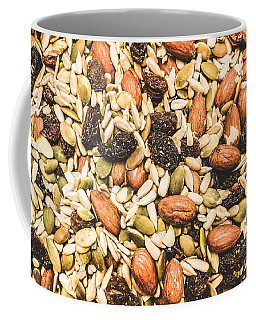 Coffee Mug featuring the photograph Trail Mix Background by Jorgo Photography - Wall Art Gallery