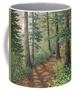 Trail Of Green Coffee Mug