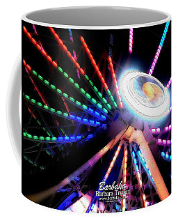 Trail Of Lights Abstract #7486 Coffee Mug by Barbara Tristan