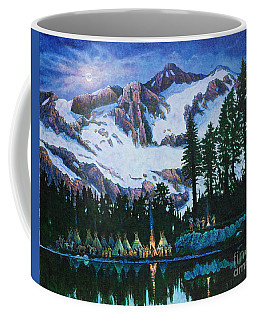 Coffee Mug featuring the painting Trails West II by Michael Frank