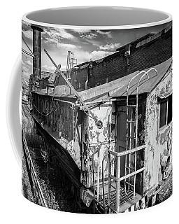 Train 6 In Black And White Coffee Mug