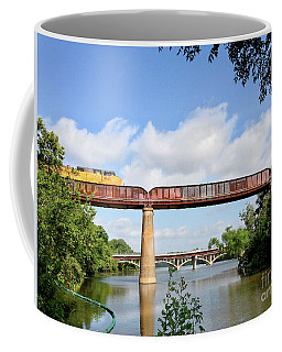 Train Across Lady Bird Lake Coffee Mug