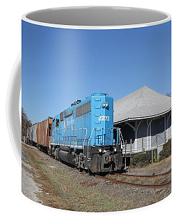 Train At A Station Coffee Mug