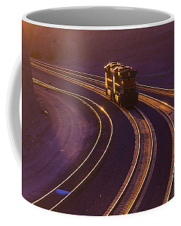 Train At Sunset Coffee Mug