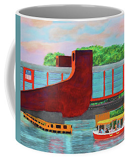 Coffee Mug featuring the painting Train Over The New River by Deborah Boyd