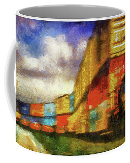 Train Freight Cars Coffee Mug by Joseph Hollingsworth
