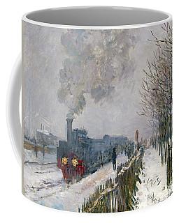 Train In The Snow Or The Locomotive Coffee Mug
