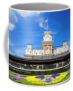 Coffee Mug featuring the photograph Train Station by Greg Fortier
