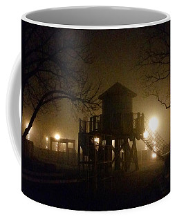 Coffee Mug featuring the photograph Train Yard Playground by Michael Rucker