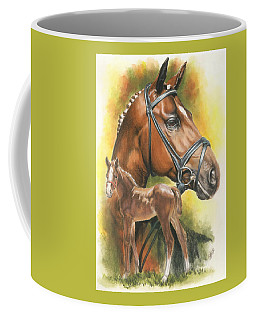 Coffee Mug featuring the mixed media Trakehner by Barbara Keith