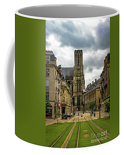 Tram Tracks To Notre Dame Coffee Mug