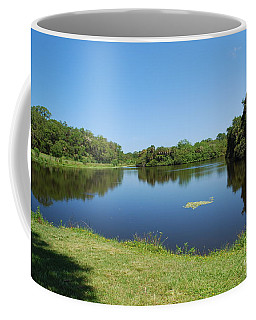 Coffee Mug featuring the photograph Tranquil Lake by Gary Wonning