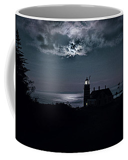 Tranquil Moonscape At Quoddy Coffee Mug by Marty Saccone