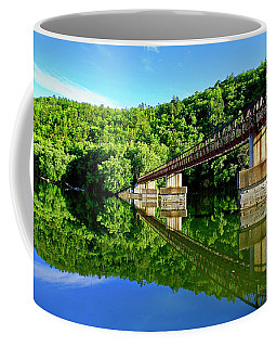 Tranquility At The James River Footbridge Coffee Mug