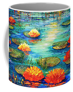 Coffee Mug featuring the painting  Tranquility V  by Teresa Wegrzyn