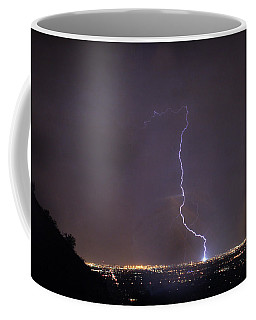 Coffee Mug featuring the photograph It's A Hit Transformer Lightning Strike by James BO Insogna