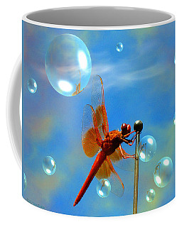 Transparent Red Dragonfly Coffee Mug