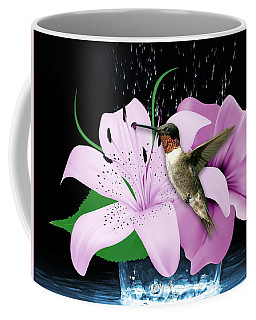 Coffee Mug featuring the mixed media Transport Hummingbird by Marvin Blaine