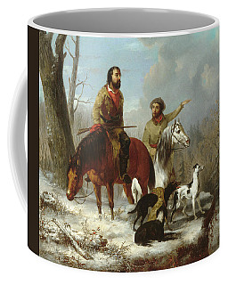 Coffee Mug featuring the painting Trappers             by Trego and Williams