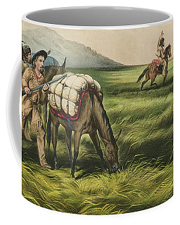 Trappers On The Prairie  Peace Or War Coffee Mug