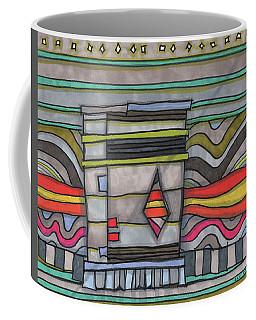 Trash Can In The Alley Coffee Mug by Sandra Church