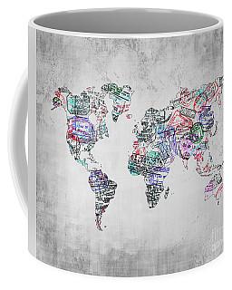 Traveler Map Grey 8x10 Coffee Mug