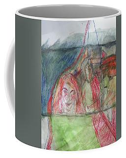 Travelers On The Train Coffee Mug