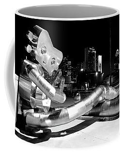 Waiting On The Train 8916 Bw Coffee Mug