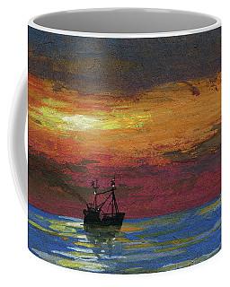 Trawling Fish Coffee Mug by R Kyllo