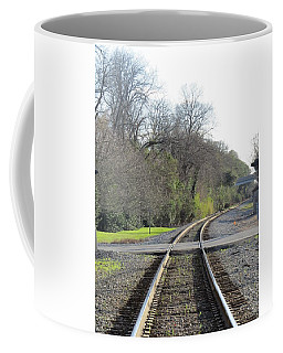Coffee Mug featuring the photograph Trax Bend by Aaron Martens