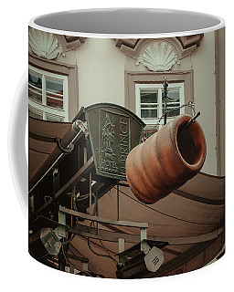 Coffee Mug featuring the photograph Trdelnik. Prague Architecture by Jenny Rainbow