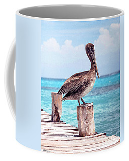 Treasure Coast Pelican Pier Seascape C1 Coffee Mug