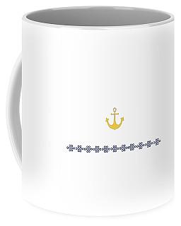 Treasure Knot With Yellow Anchor 2 Coffee Mug