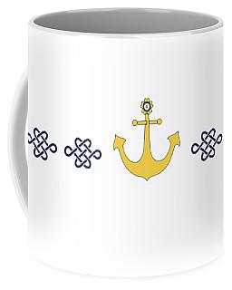 Treasure Knot With Yellow Anchor  Coffee Mug