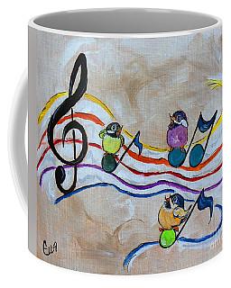 Treble Clef Trio Coffee Mug by Ella Kaye Dickey