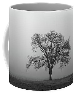 Tree Alone In The Fog Coffee Mug