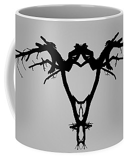 Coffee Mug featuring the photograph Tree Bird I Bw by David Gordon