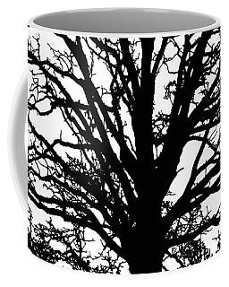 Tree Black And White Coffee Mug by Saundra Myles