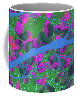 Tree Branch And Leaves Abstract Art Coffee Mug